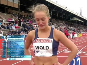 Godkjent av Nora Wold i Diamond League