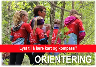 Orienteringstrening for 8-12 åringer