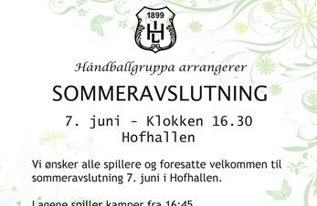 Sommeravslutning for Hof Håndball