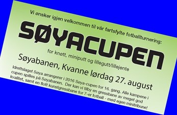 Søyacupen for 16. gang - lørdag 27. august