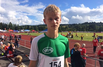 NM jr.: 5. plass og ny kretsrekord til Mathias
