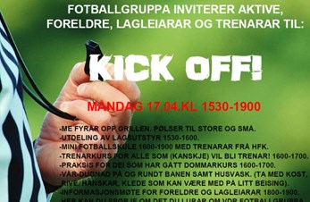 KICK OFF 17.04.17. Kl 1530-1900