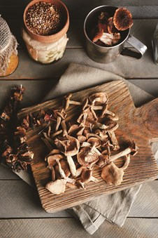 Stir-Fried Pigeon Breast with Wild Mushrooms