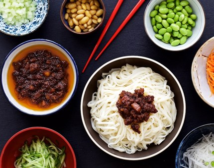 A bowl of delicious Old Beijing noodles?