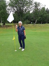 Dagny med Hole in One på hull 16
