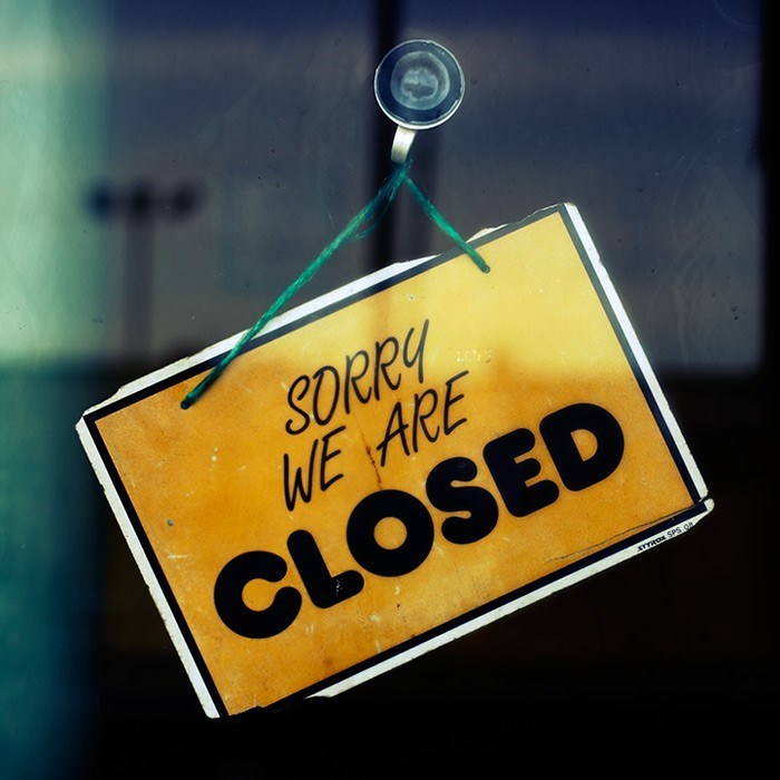 Sorry, we`re closed 1/8- 4/8.