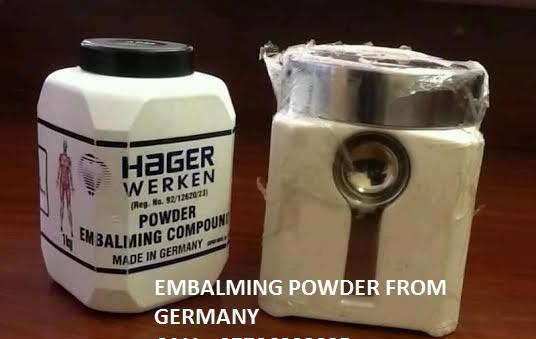 Hager Werken Embalming Compound Pink Powder call +
