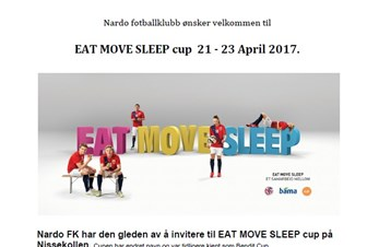 Nardo inviterer til Eat Move Sleep cup 21 - 23 April 2017